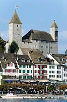 Rapperswil castle and old town at Lake Zuerich, Rapperswil, St. Gallen, Switzerland