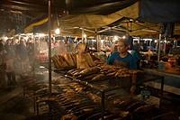 Grilled Fish at Night Market, Pasar Malam Night Market, Bandar Seri Begawan, Brunei Darussalam, Asia