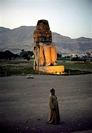 One of the two Colossi of Memnon, West Thebes, Luxor, Egypt