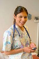 Portrait of female medical technician or nurse