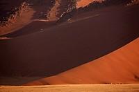 Shadow on sand dune, Namib Desert, Namibia, Africa