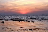 Sunrise at the coast of the island Koh Kradan - Andaman Sea, Thailand, Asia