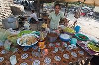 Market in Kompong Thom, Cambodia, Indochina, Southeast Asia, Asia
