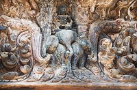Temples in the ancient pre Angkor capital of Chenla, Cambodia, Indochina, Southeast Asia, Asia