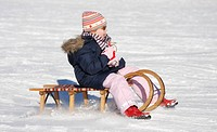 having fun with tobogganing