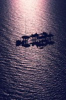 Oil rig platform in the Gulf of Mexico