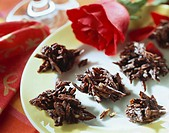 Bitter chocolate_coated almond sweets