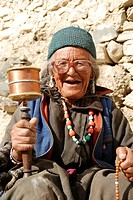 Mainly the older generation in Ladakh is often being seen praying They repeat their Om Mani Padme hum over and over again