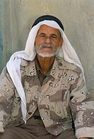 Portrait of a Bedouin man, Dana Reserve, Jordan, Middle East