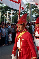Marching bands on Sultan´s birthday, Jogjakarta, Java, Indonesia, Southeast Asia, Asia