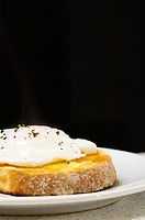Toast on a poached egg