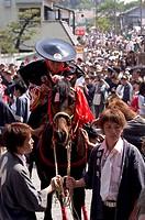 Horse jumping festival, Tado town, Mie prefecture, Kansai, Honshu island, Japan, Asia