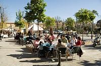 Tapas bar and restaurant, Santa Cruz district, Seville, Andalusia, Spain, Europe