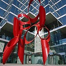 Red modern sculpture, NCNB Plaza, Dallas, Texas, United States of America USA, North America