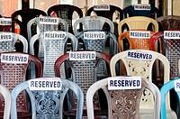 Reserved seats to attend Esala Perahera festival, Kandy, Sri Lanka