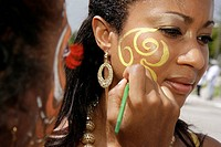 Florida, Miami, NE Second 2nd Avenue, Miami Caribbean Carnival, costume, festival, parade, Black, woman, women, folklore, culture, heritage, performer...