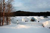 The ice hotel of Sainte_Catherine Quebec