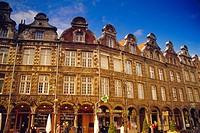18th century Flemish buildings, Place des Heros, Arras, Pas_de_Calais, France, Europe
