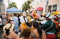 Goombay Festival in Bahama Village, Petronia Street, Key West, Florida, United States of America, North America