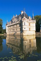 Azay le Rideau chateau, Loire Valley, UNESCO World Heritage Site, Centre, France, Europe