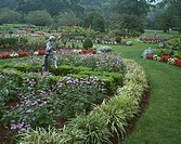 Statues in a garden, New Jersey State Botanical Garden, Ringwood State Park, Ringwood, New Jersey, USA