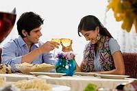 Couple enjoying a meal