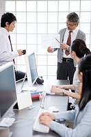 Business Scene, Four People Having Business Meeting