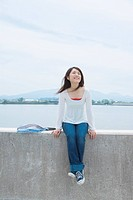 The Japanese Woman Who Sits On A Bank
