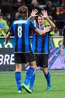 zlatan ibrahimovic and dejan stankovic,milano 14 12 2008 ,serie a football championship 2008/2009 ,inter_chievo 4_2 ,photo paolo bona/markanews