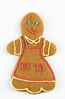 Female gingerbread man cookie.