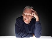 Mature man thinking (portrait)