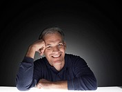 Mature man laughing (portrait)