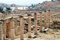The three churches, Jerash Gerasa, a Roman Decapolis city, Jordan, Middle East