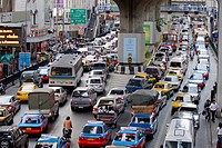 Traffic chaos in Bangkok, Thailand, Southeast Asia, Asia
