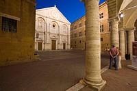 Pio II square, Pienza, Val d´Orcia, Tuscany, Italy, Europe