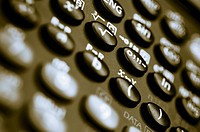 Close_up of buttons of a calculator