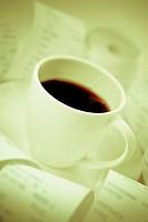 Close_up of a tea cup with a saucer
