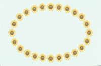 The Oval Frame Of Sunflower