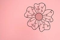 Flower drawn on a wall