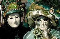 Two masks at carneval in Venice, Italy