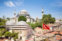 Turkish Flags at Istanbul University Library and Suleiman Mosque