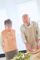 Senior Husband And Wife Who Cook