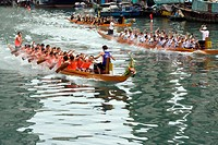 Dragon boat race at Shaukeiwan, Hong Kong