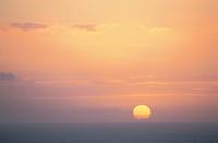 The Setting Sun And The Horizon