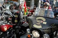 New York City USA, bikers at the Veterans Day parade