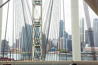 City skyline through the Singapore Flyer giant observation wheel, Singapore