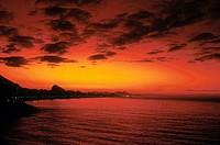 Sunset, Leblon, Ipanema, Rio de Janeiro, Brazil