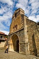 Church of Santa Maria la Real, Piasca, Cabezon de Liebana, valley of Liebana, Picos de Europa National Park, Cantabria, Spain