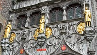 Statues of Basilica of the Holy Blood (Heilige Bloed Basiliek) in Brugge, West Flanders, Belgium