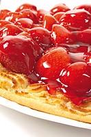 Strawberry cake, closeup